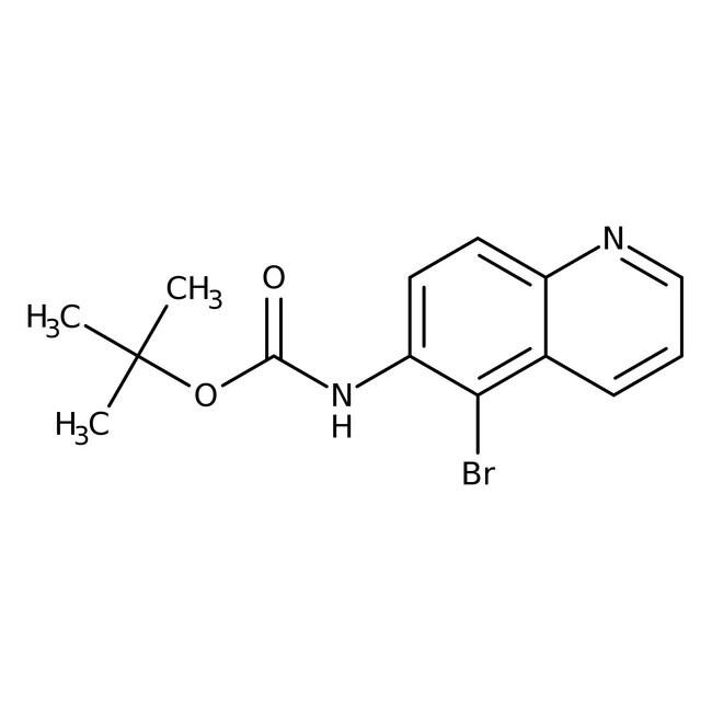 Alfa Aesar™6-(Boc-amino)-5-bromoquinoline, 95% 1g Alfa Aesar™6-(Boc-amino)-5-bromoquinoline, 95%