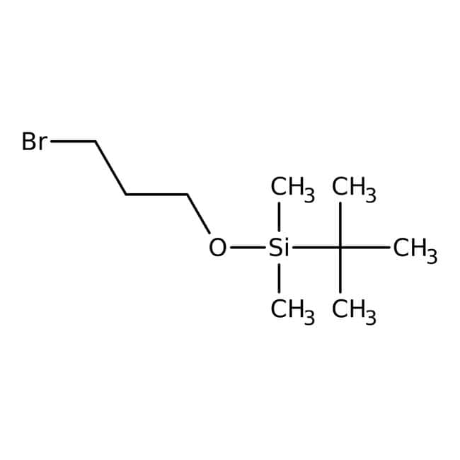 (3-Bromopropoxy)-tert-butyldimethylsilane, 97%, stabilized over sodium carbonate, ACROS Organics™