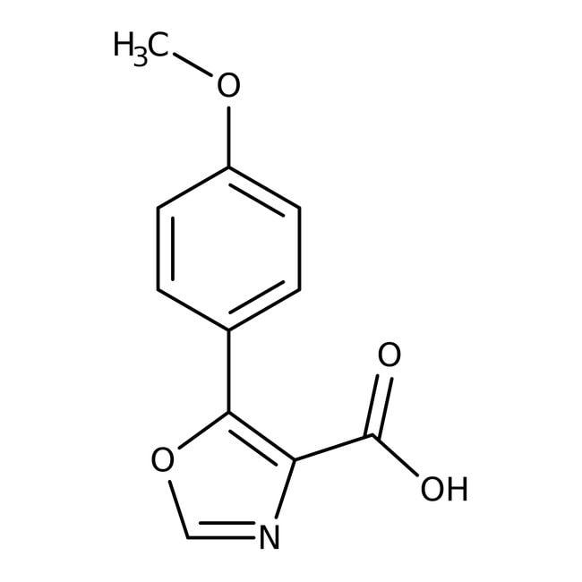 5-(4-Methoxyphenyl)-1,3-oxazole-4-carboxylic acid, 97%, Maybridge™ Amber Glass Bottle; 1g 5-(4-Methoxyphenyl)-1,3-oxazole-4-carboxylic acid, 97%, Maybridge™