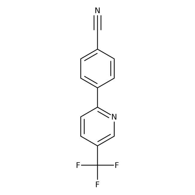 4-[5-(trifluorométhyl)pyrid-2-yl]benzonitrile, 97%, Maybridge: Pyridines and derivatives Organoheterocyclic compounds