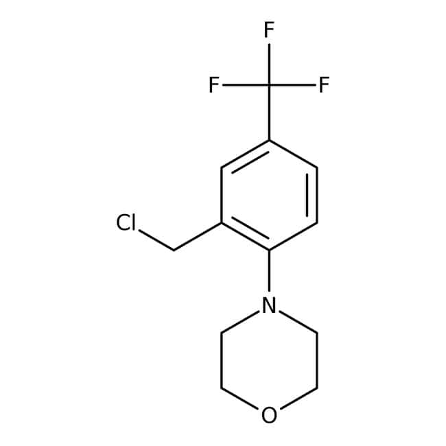 4-[2-(Chlormethyl)-4-(trifluormethyl)-phenyl]-morpholin, 97 %, Maybridge Braunglasflasche, 1 g 4-[2-(Chlormethyl)-4-(trifluormethyl)-phenyl]-morpholin, 97 %, Maybridge