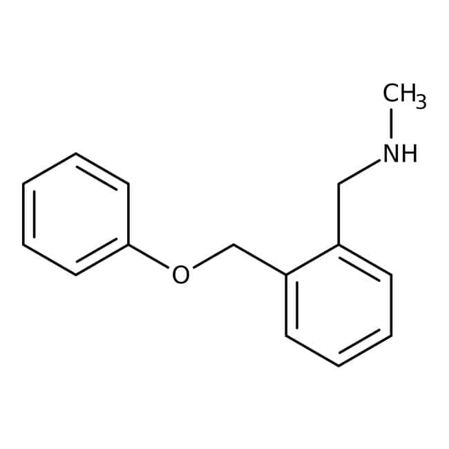 N-Méthyl-2-(phénoxyméthyl)benzylamine, 97 %, Maybridge Flacon en verre ambré ; 250 mg N-Méthyl-2-(phénoxyméthyl)benzylamine, 97 %, Maybridge