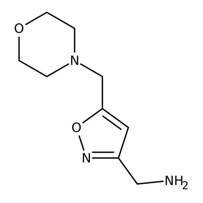 [5-(Morpholinomethyl)isoxazol-3-yl]methylamine, 97%, ACROS Organics