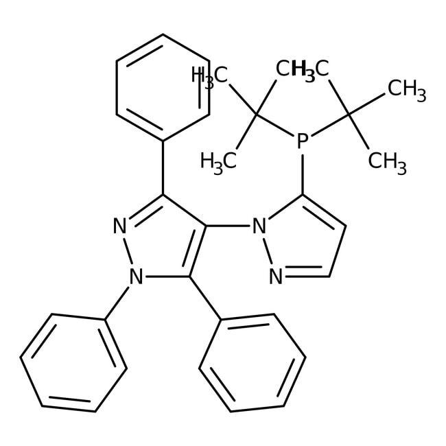 5-(Di-tert-butylphosphino)-1',3',5'-triphenyl-1'H-1,4-bipyrazole, 97%, ACROS Organics