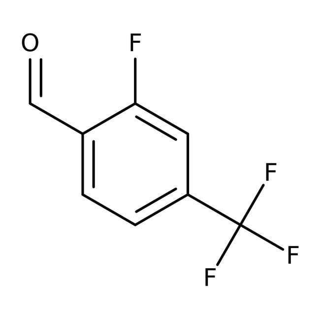 2-Fluoro-4-(trifluoromethyl)benzaldehyde, 98%, ACROS Organics™ 5g; Glass bottle 2-Fluoro-4-(trifluoromethyl)benzaldehyde, 98%, ACROS Organics™