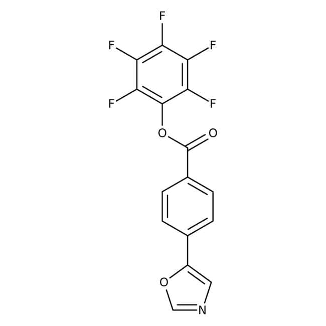 Pentafluorophenyl 4-(1,3-oxazol-5-yl)benzoate, 97%, Maybridge™: Phenylpropanoids and polyketides Organic Compounds