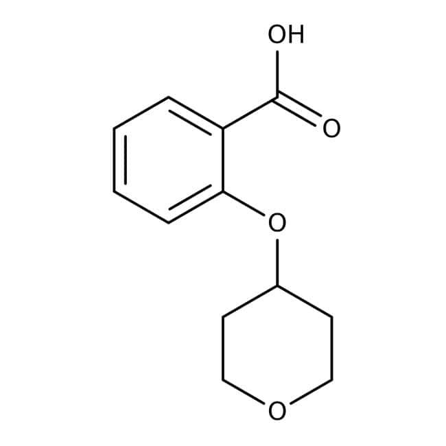 2-(Tetrahydropyran-4-yloxy)benzoic acid, 97%, Maybridge™