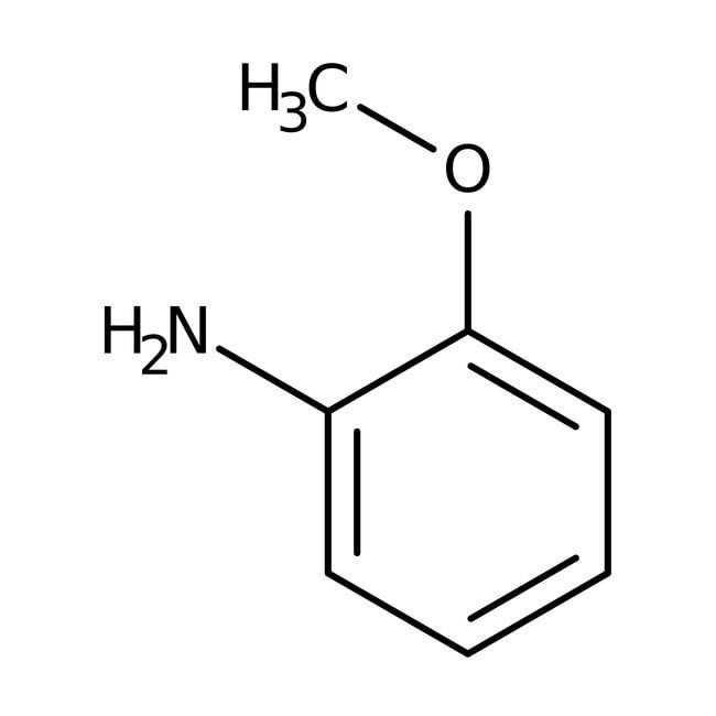 o-Anisidine, 99+%, ACROS Organics™ 5mL; Glass bottle o-Anisidine, 99+%, ACROS Organics™
