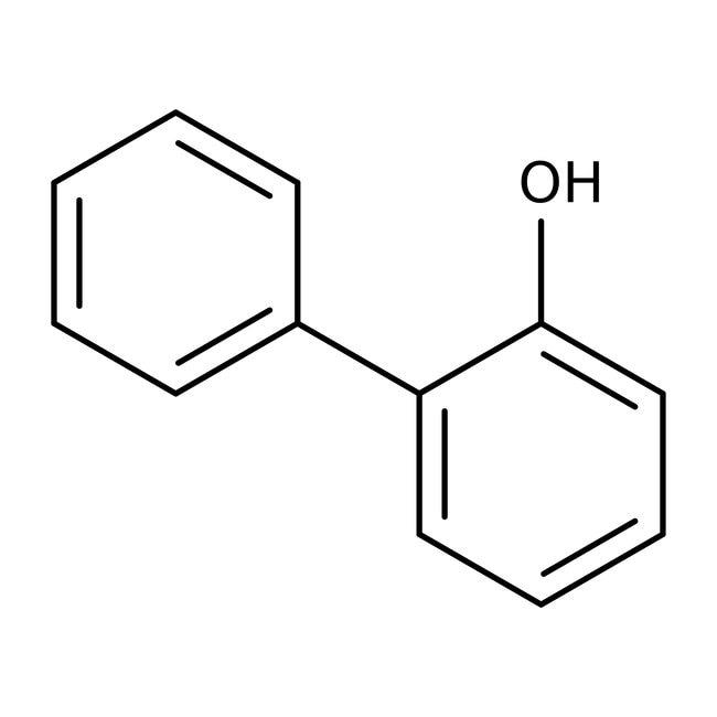 2-Phenylphenol, 99+%, ACROS Organics™ 2.5kg, Plastic bottle 2-Phenylphenol, 99+%, ACROS Organics™