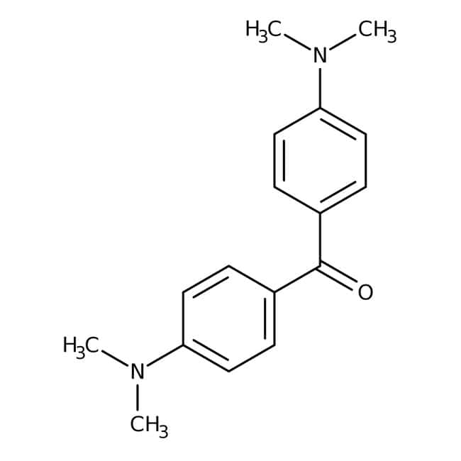 4,4'-Bis(dimethylamino)benzophenone, 98%, ACROS Organics™ 500g; Glass bottle 4,4'-Bis(dimethylamino)benzophenone, 98%, ACROS Organics™