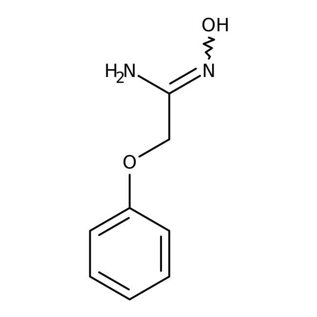 n'-Hydroxy-2-phenoxyethanimidamide, ≥97%, Maybridge Amber Glass Bottle; 10g n'-Hydroxy-2-phenoxyethanimidamide, ≥97%, Maybridge
