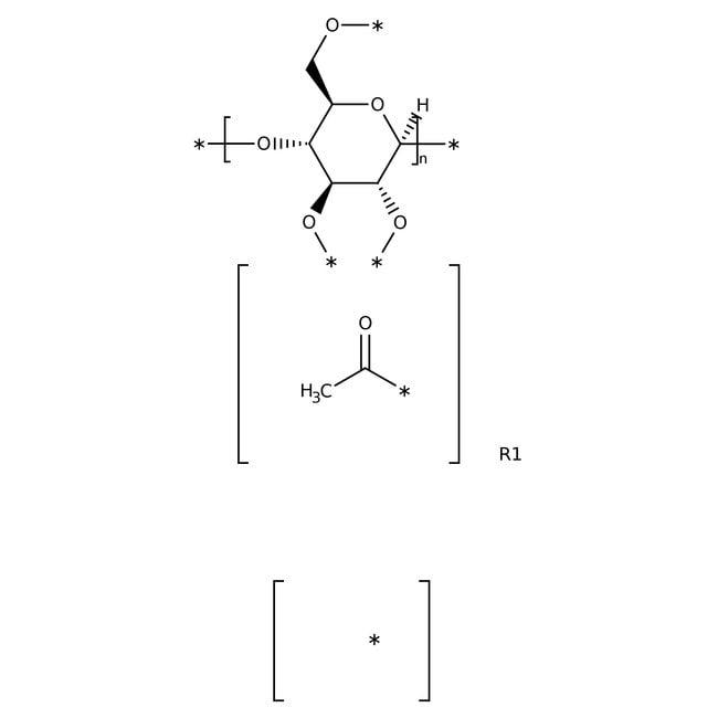 Celluloseacetat, durchschnittliches Molekulargewicht 100,000, ACROS Organics™ 500g; Kunststoffflasche Celluloseacetat, durchschnittliches Molekulargewicht 100,000, ACROS Organics™