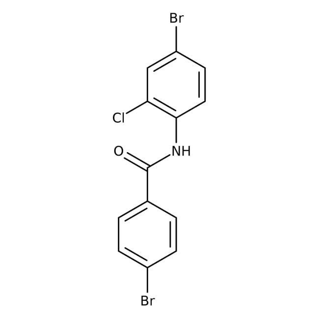 Alfa Aesar™4-Bromo-N-(4-bromo-2-chlorophenyl)benzamide, 97% 500mg Alfa Aesar™4-Bromo-N-(4-bromo-2-chlorophenyl)benzamide, 97%