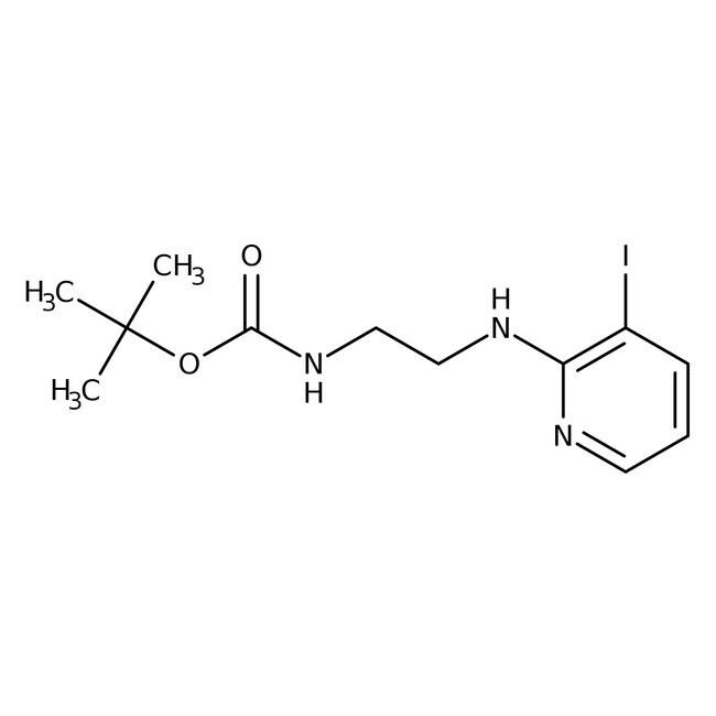2-[2-(Boc-amino)etilamino]-3-yodopiridina, 95%, Alfa Aesar™ 1g 2-[2-(Boc-amino)etilamino]-3-yodopiridina, 95%, Alfa Aesar™