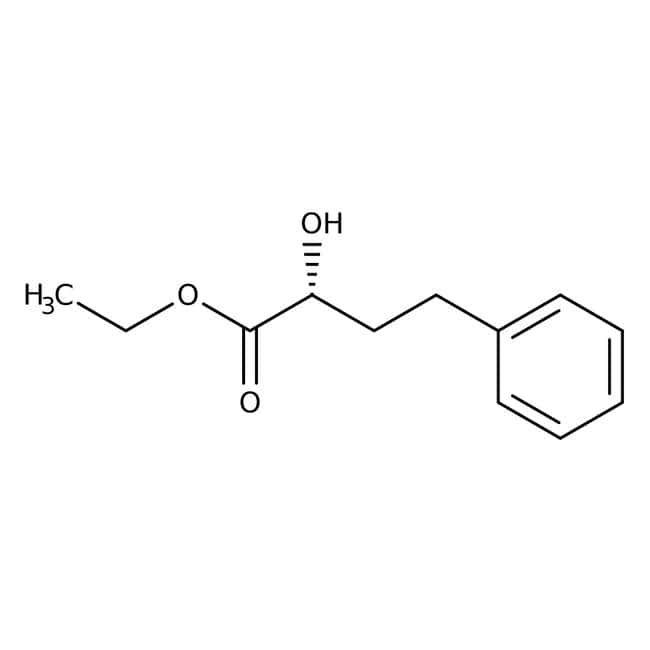 Alfa Aesar™ Ethyl (R)-2-hydroxy-4-phenylbutyrate, 98%: Carboxylic acids and derivatives Organic acids and derivatives