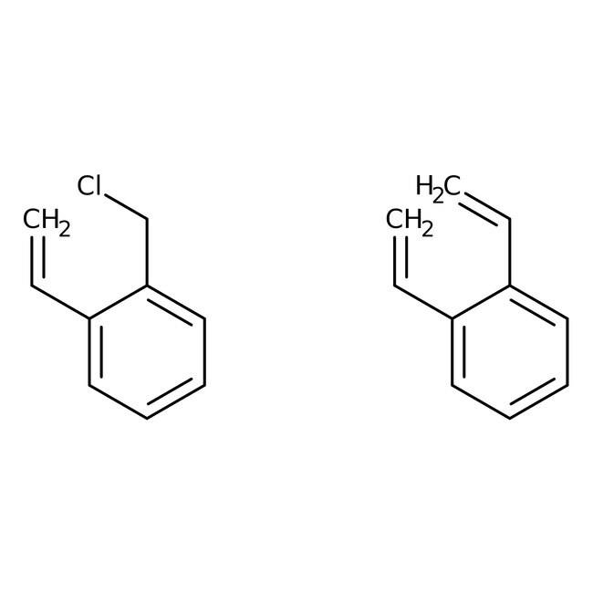 Merrifield polymer resin, 1%crossl. with DVB, 2.5-3.0 mmol Cl/g,200-400 mesh, Acros Organics