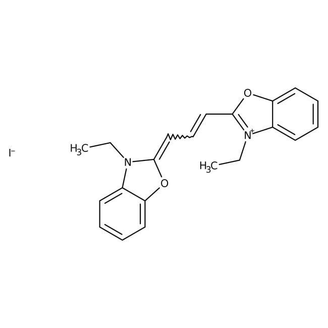 Alfa Aesar™3,3'-Diethyloxacarbocyanine iodide, 98%