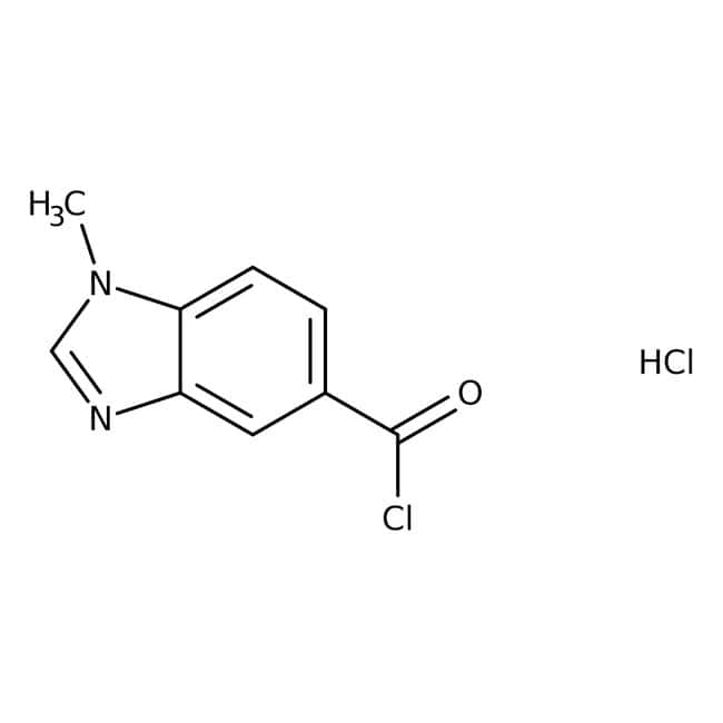 1-Methyl-1H-benzimidazole-5-carbonyl chloride hydrochloride, 90%, Maybridge™