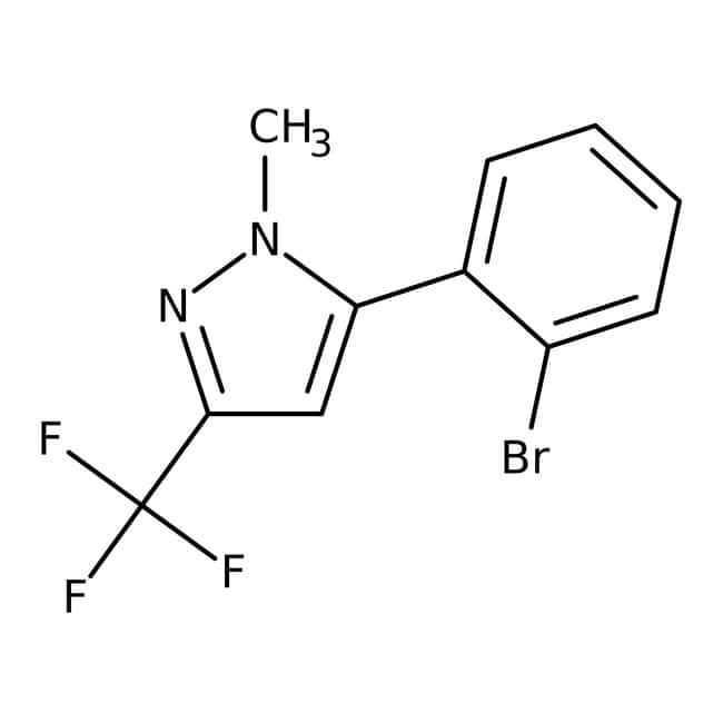 5-(2-Bromophenyl)-1-methyl-3-(trifluoromethyl)-1H-pyrazole, ≥97%, Maybridge™ Amber Glass Bottle; 250mg 5-(2-Bromophenyl)-1-methyl-3-(trifluoromethyl)-1H-pyrazole, ≥97%, Maybridge™