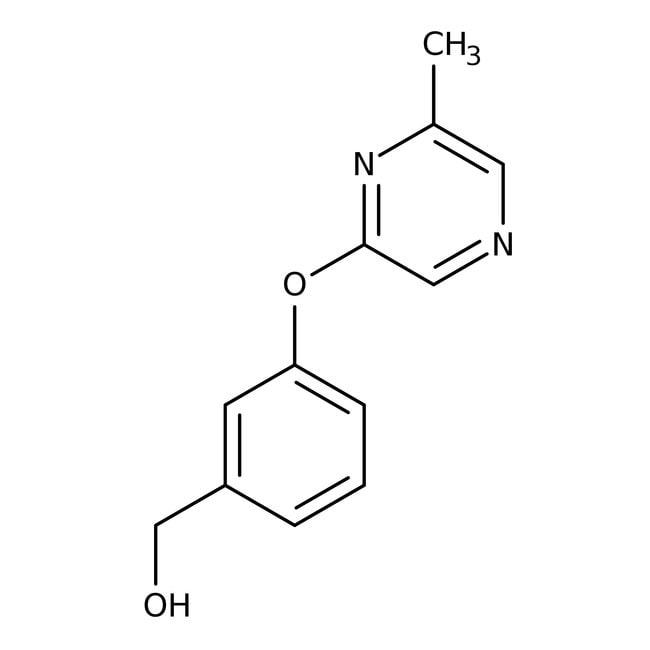 {3-[6-Methylpyrazin-2-yl)oxy]phenyl}Methanol, 97%, Maybridge Braunglasflasche, 250mg {3-[6-Methylpyrazin-2-yl)oxy]phenyl}Methanol, 97%, Maybridge