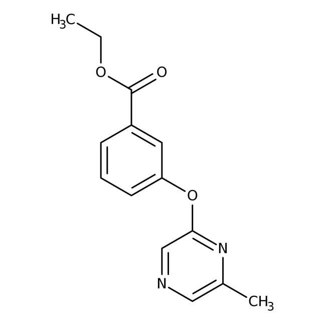 Ethyl 3-[(6-methylpyrazin-2-yl)oxy]benzoat, 97%, Maybridge Braunglasflasche, 1g Ethyl 3-[(6-methylpyrazin-2-yl)oxy]benzoat, 97%, Maybridge