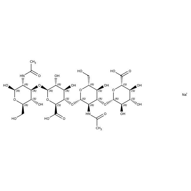 Alfa Aesar™Hyaluronic acid sodium salt, Streptococcus equi, 91% 1g Alfa Aesar™Hyaluronic acid sodium salt, Streptococcus equi, 91%