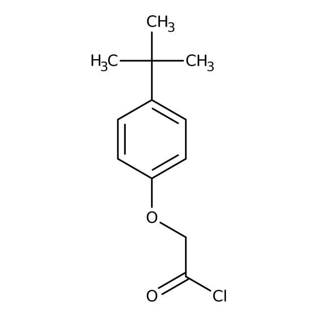 Alfa Aesar™Cloruro de 4-terc-butilfenoxiacetil, 98% 10g Alfa Aesar™Cloruro de 4-terc-butilfenoxiacetil, 98%