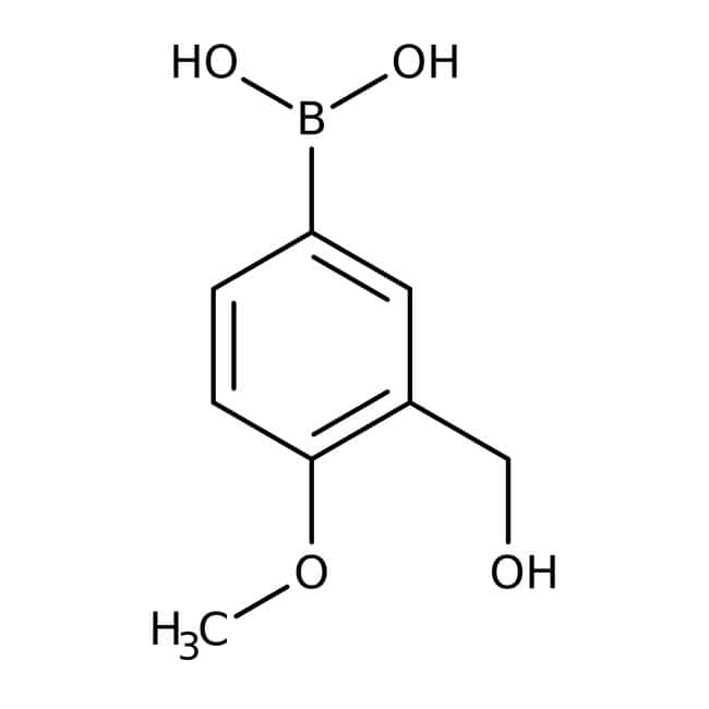 Alfa Aesar™3-Hydroxymethyl-4-methoxybenzeneboronic acid, 98% 5g Alfa Aesar™3-Hydroxymethyl-4-methoxybenzeneboronic acid, 98%