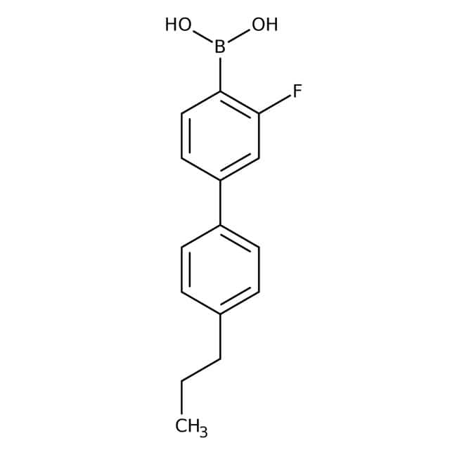 Alfa Aesar™3-Fluor-4'-n-Propylbiphenyl-4-Boronsäure, 98% 5g Alfa Aesar™3-Fluor-4'-n-Propylbiphenyl-4-Boronsäure, 98%