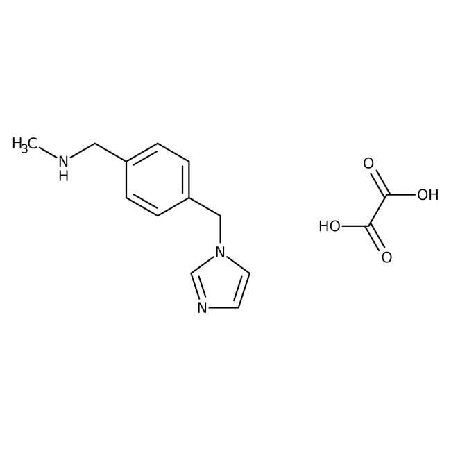 4-(1H-Imidazol-1-ylmethyl)-N-methylbenzylamine 1.5 oxalate 0.5 hydrate, 97%, Maybridge™ Amber Glass Bottle; 250mg 4-(1H-Imidazol-1-ylmethyl)-N-methylbenzylamine 1.5 oxalate 0.5 hydrate, 97%, Maybridge™