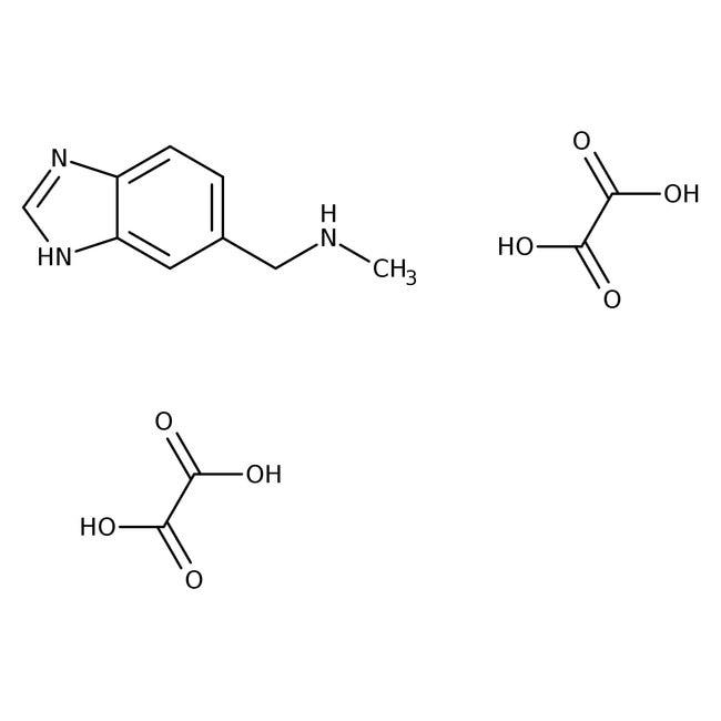 Dioxalate de N-méthyl-(1H-benzimidazol-5-ylméthyl)amine, 90%, Maybridge Flacon en verre ambré ; 250mg Dioxalate de N-méthyl-(1H-benzimidazol-5-ylméthyl)amine, 90%, Maybridge