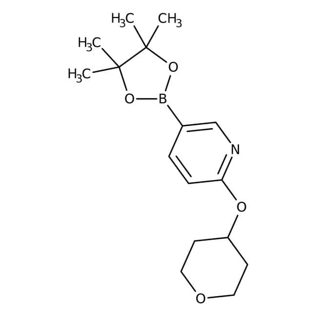 2-(Tetrahydropyran-4-yloxy)-5-(4,4,5,5-tetramethyl-1,3,2-dioxaborolan-2-yl)pyridine, 97%, Maybridge™