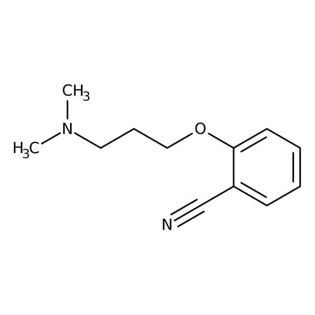 2-[3-(Dimethylamino)propoxy]benzonitrile, 97%, Maybridge™ Amber Glass Bottle; 5g 2-[3-(Dimethylamino)propoxy]benzonitrile, 97%, Maybridge™