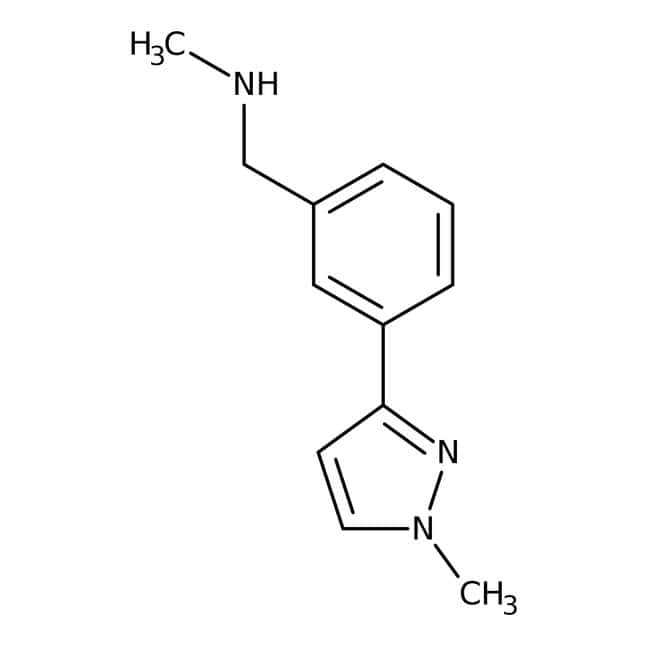 N-Methyl-3-(1-methyl-1H-pyrazol-3-yl)benzylamine, 90%, Maybridge™: Benzene and substituted derivatives Benzenoids