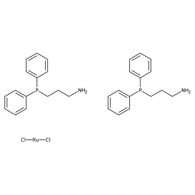 Dichlorobis(3-(diphenylphosphino)propylamine)ruthenium(II), 97%, ACROS Organics