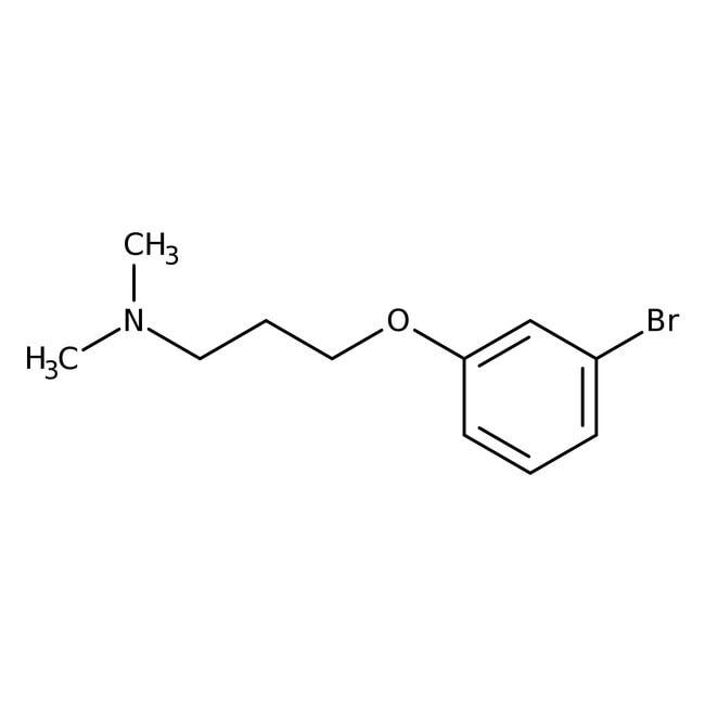 3-(3-Bromophenoxy)-N,N-dimethylpropylamine, 97%, Maybridge Amber Glass Bottle; 5g 3-(3-Bromophenoxy)-N,N-dimethylpropylamine, 97%, Maybridge