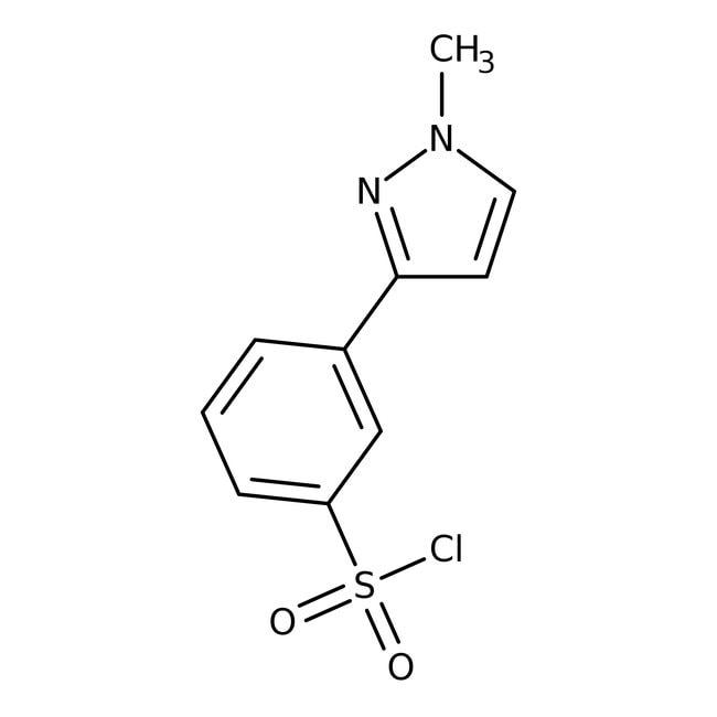 3-(1-Methyl-1H-pyrazol-3-yl)benzenesulfonyl chloride, 97%, Maybridge Amber Glass Bottle; 1g 3-(1-Methyl-1H-pyrazol-3-yl)benzenesulfonyl chloride, 97%, Maybridge