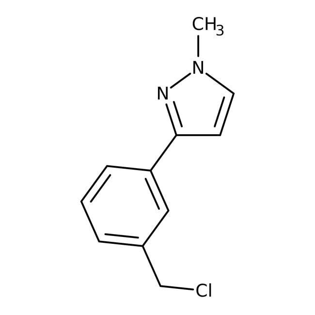 3-[3-(chloromethyl)phenyl]-1-methyl-1H-pyrazole, Tech., Maybridge Amber Glass Bottle; 250mg 3-[3-(chloromethyl)phenyl]-1-methyl-1H-pyrazole, Tech., Maybridge
