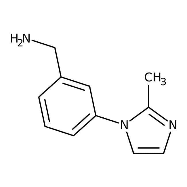 3-(2-Méthyl-1H-imidazol-1-yl)benzylamine, 97 %, Maybridge Flacon en verre ambré ; 1 g 3-(2-Méthyl-1H-imidazol-1-yl)benzylamine, 97 %, Maybridge