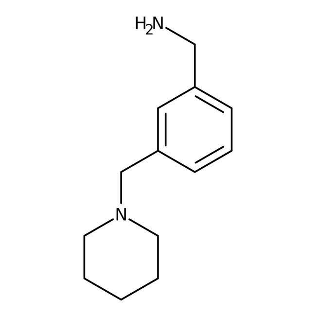 3-Piperidin-1-ylmethyl benzylamine, ≥97%, Maybridge™ Amber Glass Bottle; 1g 3-Piperidin-1-ylmethyl benzylamine, ≥97%, Maybridge™