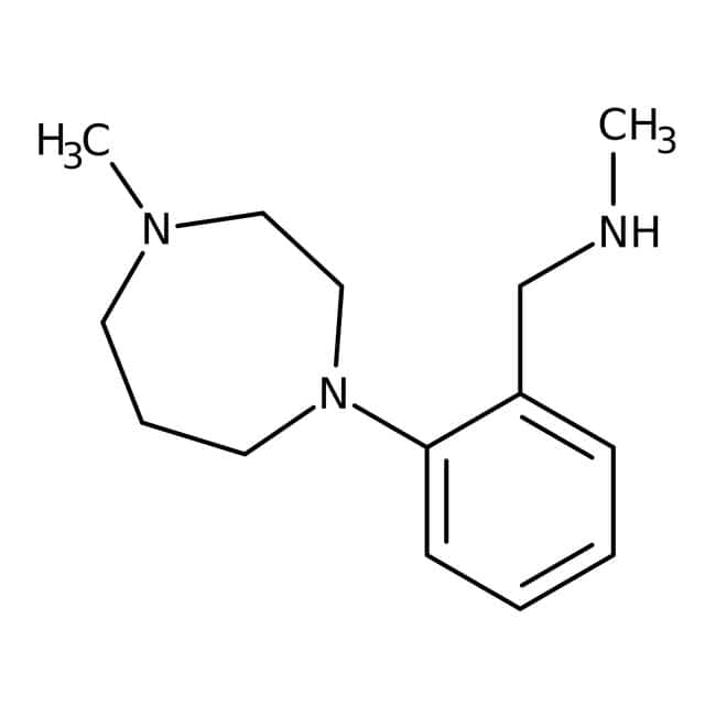 N-Methyl-2-(4-methylperhydro-1,4-diazepin-1-yl)benzylamine, ≥97%, Maybridge™ Amber Glass Bottle; 250mg N-Methyl-2-(4-methylperhydro-1,4-diazepin-1-yl)benzylamine, ≥97%, Maybridge™