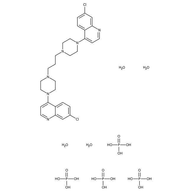 1,3-Bis[4-(7-chloro-4-quinolinyl)-1-piperazinyl]propane tetraphosphate tetrahydrate, 98%, Alfa Aesar™: Chemicals Products