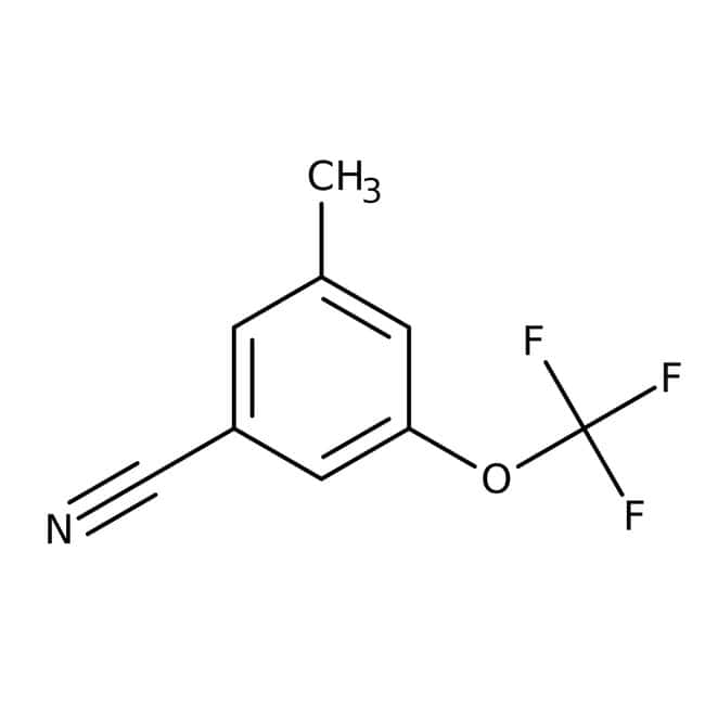 Alfa Aesar™ 3-Methyl-5-(trifluoromethoxy)benzonitrile, 97%: Benzene and substituted derivatives Benzenoids