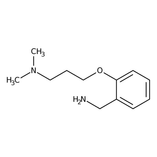 2-[3-(Dimethylamino)propoxy]benzylamine, 97%, Maybridge Amber Glass Bottle; 250mg 2-[3-(Dimethylamino)propoxy]benzylamine, 97%, Maybridge