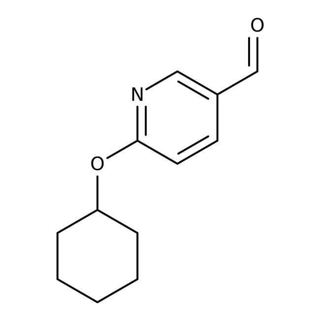 Alfa Aesar™2-ciclohexiloxipiridina-5-carboxaldehído, 97% 5g Alfa Aesar™2-ciclohexiloxipiridina-5-carboxaldehído, 97%