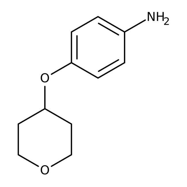4-(Tetrahydropyran-4-yloxy)aniline, 97%, Maybridge™ Amber Glass Bottle; 250mg 4-(Tetrahydropyran-4-yloxy)aniline, 97%, Maybridge™