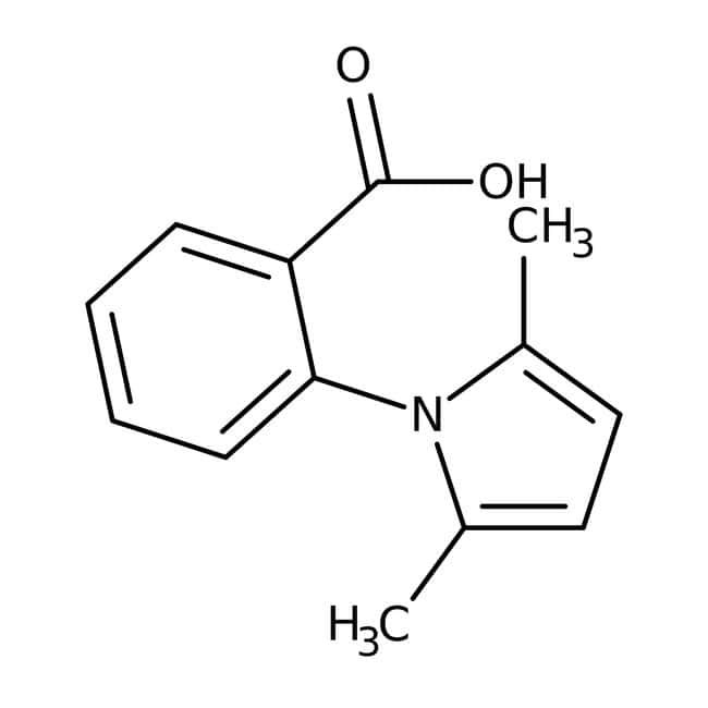 2-(2,5-Dimethyl-1H-pyrrol-1-yl)benzoesäure, 97 %, Maybridge Braunglasflasche, 1 g 2-(2,5-Dimethyl-1H-pyrrol-1-yl)benzoesäure, 97 %, Maybridge