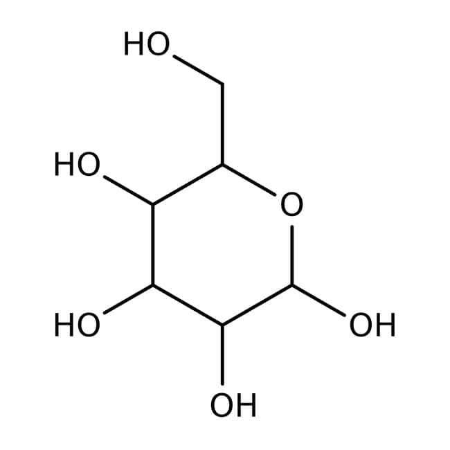 L(-)-Glucose, 98%, ACROSOrganics™ 5 g-Glasflasche L(-)-Glucose, 98%, ACROSOrganics™