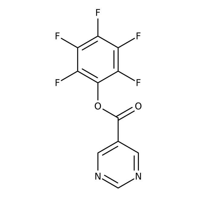 Pentafluorophenyl pyrimidine-5-carboxylate, 97%, Maybridge™ Amber Glass Bottle; 1g Pentafluorophenyl pyrimidine-5-carboxylate, 97%, Maybridge™