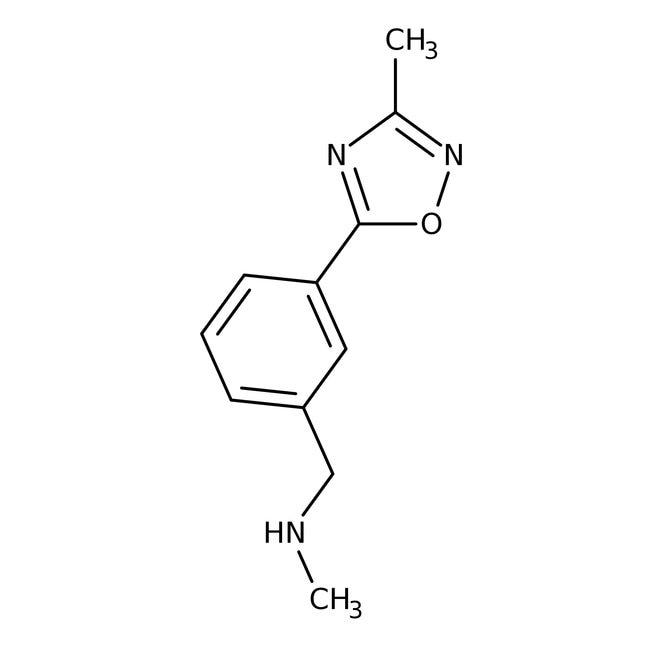 N-Methyl-3-(3-methyl-1,2,4-oxadiazol-5-yl)benzylamine, 95%, Maybridge™ Amber Glass Bottle; 250mg N-Methyl-3-(3-methyl-1,2,4-oxadiazol-5-yl)benzylamine, 95%, Maybridge™
